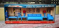 VTG RARE & UNIQUE MEXICAN LILI LEDY LIVING ROOM SET NEW W/OB DOLLHOUSE FURNITURE