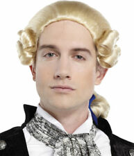 Morris Costumes Men's New Historic Curl 1800's Ponytail Bow Blonde Wig. MR178053