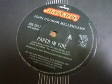 JOHN COUGAR MELLENCAMP---PAPER IN FIRE    45