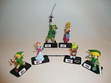 Legend of Zelda 6 Figuren Nintendo Wii Link Phantom Hourglass OoT Skyward Sword