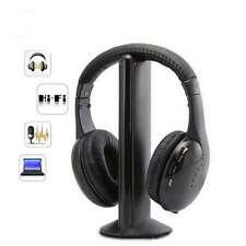 Casque Ecouteur sans Fil 5 en 1 [Casque, Radio, Micro, Emetteur...] pour PC