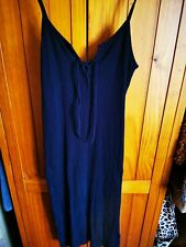 Ladies Topshop Black Long Body Con Summer Dress Size 14 Casual