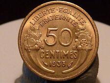 BOIS5(33) - 50 CENTIMES - MORLON - 1938 - RARE QUALITE SUP+/SPL !
