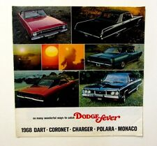 ORIGINAL 1968 DODGE SALES Brochure JERE SMITH Sunnyvale CA Dart Charger 20 pgs