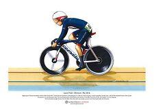 Laura Trott, Omnium ganador, Rio Olimpiadas arte cartel A3 Tamaño