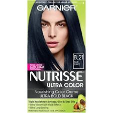 Garnier Nutrisse Ultra Color Nourishing Hair Color Creme, BL21 Blue Black