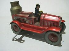 EARLY TIN GERMANY WIND UP FIRE TRUCK EXCELLENT CONDITION