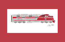 "Rock Island E6 ""The Rocket"" 11""x17"" Matted Print by Andy Fletcher signed"