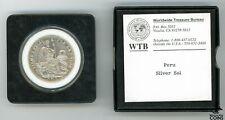 1934 Peru Un Sol KM# 218.2 Uncirculated Silver Coin