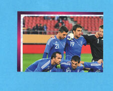 PANINI-EURO 2012-Figurina n.80- SQUADRA/TEAM 1/4 - GRECIA -NEW-DARK BOARD