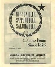 1953 Nippon Kokan Steel Tube Nippon Breweries Snowy Foam