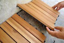 HARDWOOD DECK TILES A+ Wooden New Interlocking Patio Garden Balcony Decking