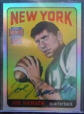 2001 Topps Archives ON-CARD AUTOgraph Rookie *JOE NAMATH* RC! Jets RARE 01 Topps