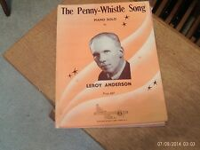 Leroy Anderson: The Penny - Whistle Song, for piano solo ( Mills)