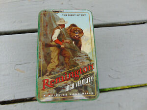 Vintage REMINGTON Right of Way 400 Round 22 Ammo Tin Box Empty A1 Condition!