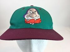 Disney Grumpy SnapBack Cap Hat YOUTH Snow White 7 Dwarfs Video Release Exclusive