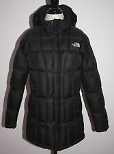Girls The North Face Black Down Metropolis Parka Coat Size XL / 18