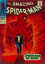 AMAZING SPIDER-MAN #50 (Marvel 1967) Vintage Comic Cover Poster Art