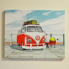 VW Canvas Print Seaside Splitty Wall Art Fully Licensed By Volkswagen #54006