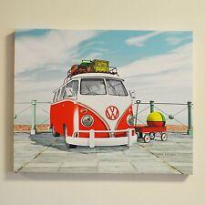 VW Canvas Print Seaside Splitty Wall Art Fully Licensed By Volkswagen #54006