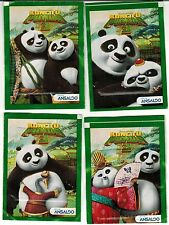 Chile 2015 Ansaldo Kun Fu Panda Sticker Pack 4 different