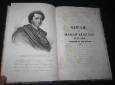 1840 Memorie della vita Marco Zignani - Pierre Puget. Storia dell'arte. RARI.