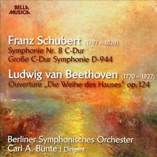 """Schubert: Symphonie No. 8; Beethoven: Ouvertre, """"Die Weihe des Hauses"""" Op. 124 (CD, Sep-2013, Bella Musica)"""