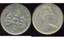 ROYAUME UNI   five   5  pence 1980  ( bis )