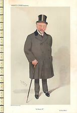 1909 ORIGINAL VANITY FAIR PRINT ~ SIR HORACE REGNART JP ~ SPY
