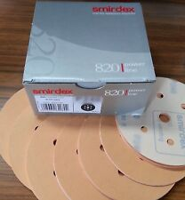 "EURO-QUALITY 100 x VELCR0 SANDING DISCS 120 GRIT 150MM (6"") 7 HOLE DRY SANDPAPER"