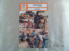 CARTE FICHE CINEMA 1984 L'AUBE ROUGE Patrick Swayze C.Thomas Howell C.Sheen
