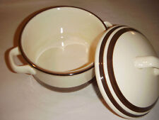"""KERRY IRONSTONE COVERED 7"""" COOK POT CELTIC MADE IN IRELAND SHAMROCK BROWN BANDS"""