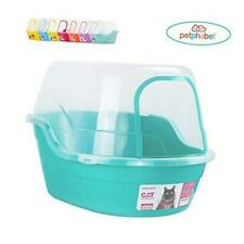 New listing Petphabet Covered Litter Box, Jumbo Hooded Cat Litter Box Holds Up to Two Small