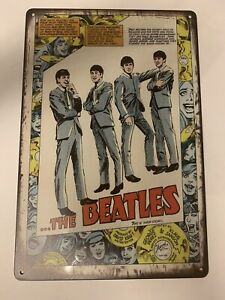 beatles Tin Sign memorabilia vintage Album Abby Yellow Brick Road Cover Ticket