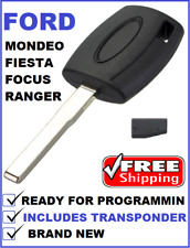 Ford Mondeo Fiesta Focus Ranger Transponder car key blank 2005 - 2014 Hu101-ID63