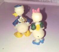 Vintage Hanna Barbera Tinykins Donald Duck and Daisy Duck Miniatures 1960s