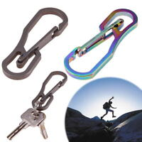 Outdoor Titanium High Loading-bearing Carabiner Hook EDC Tool Keychain
