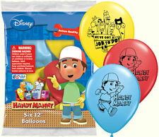 "6 pc 12"" Disney Handy Manny Latex Balloons Party Decoration Construction Tools"