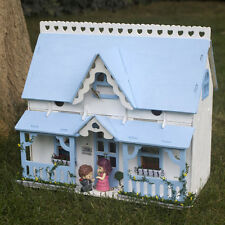 Wood Dollhouse Miniature Furniture Doll House Room DIY Kits Gift With LED Light