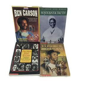 Non-fiction Books On Multi-Cultural Biographies RL 4 Lot of 4 Pre-owned -SB