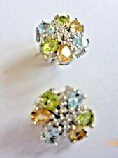 Peridot Citrine Topaz Earrings
