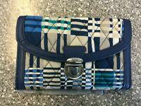 NWT Vera Bradley Ultimate Wristlet Wallet Push Lock Clutch SANTIAGO WOVEN