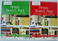 A4 Artists Sketch Pad 90gsm 40 Sheets Cartridge Paper White Paper