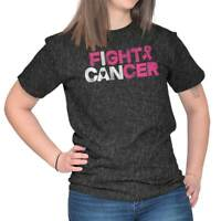 I Can Fight Breast Cancer Inspire Awareness Cute Survivor Ladies T Shirt Tee