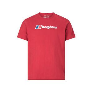 Berghaus Big Corporate Logo Mens Short Sleeve Outdoor T-Shirt Tee Red