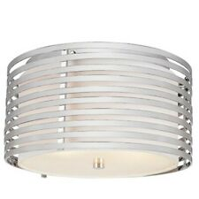 "Trans Globe 13"" Avenue 3 Light Flushmount, Polished Chrome - PND-871"
