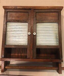 Farm House Medicine Bathroom Cabinet / Kitchen/ Towel Rod/Vintage Wall Mexico