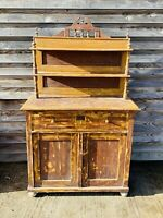 LOVELY ANTIQUE 19th CENTURY MAHOGANY HUNGARIAN SIDEBOARD CUPBOARD, C1900