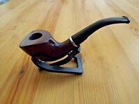 Oak Wood Tobacco Bent Pipe With Filter & Pouch - Wooden Smoking Pipe
