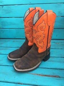 Kids Boys cowboy boots size 12D Old west